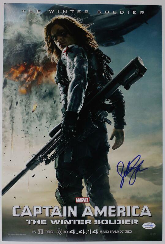"Sebastian Stan ""Captain America: The Winter Soldier"" SIGNED 12x18 Photo ACOA"