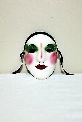 Fancy Faces Porcelain Face Mask, Wall Hanging Decor