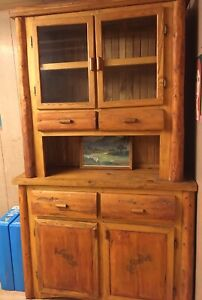 Sold wood hutch / cabinet