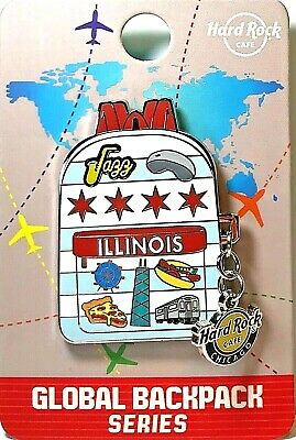 Hard Rock Cafe Chicago Pin Global BackPack Series 2019 New LE # 501630