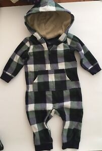 Carters fleece warm 9 months baby boy autumn outfit