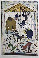 Jutta Votteler,, Gabbia Della Scimmia , Acquaforte, Grafica Originale -  - ebay.it