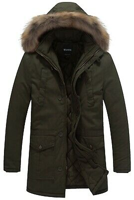 Wantdo Men's Winter Parka Coat Thick Warm Jacket With Hood for Cold Weather