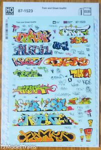Microscale Decal HO  #87-1523 Train and Street Graffiti
