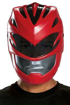 CHILD RED POWER RANGER 2017 MOVIE VACUFORM FACE MASK COSTUME DG19654 (Red Power Ranger Mask)