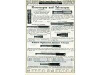 1941 PAPER AD Wollensak Telescope Achromatic 45X 4 Draw Tubes Bausch /& Lomb