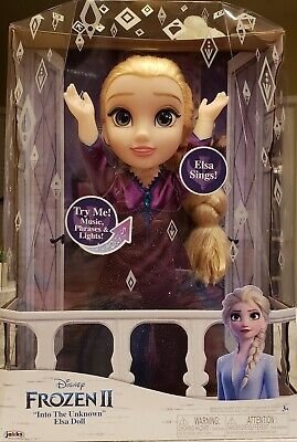 Disney Frozen 2 Elsa Musical Doll Sings Into the Unknown and Features 14 Film P…