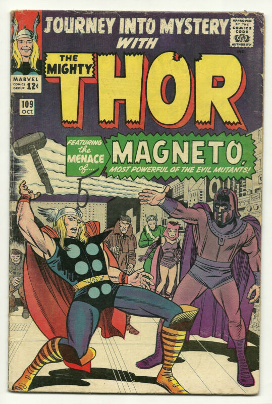 Journey Into Mystery 1964 #109 Very Good/Fine Thor Magneto