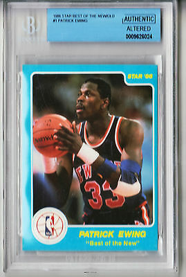 1986 Star Best of New Patrick Ewing Rookie RC #1 BGS Authentic ()