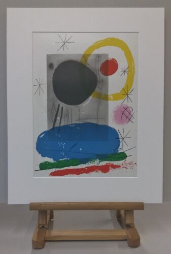 Joan MIRO (1893-1983) Original Lithographie 1965 - #367 - Composition de Cartons