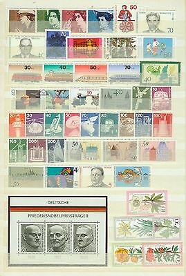 Bund, BRD Jahrgang 1975 komplett in den Hauptnummern, postfrisch, mit BEM