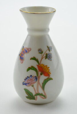 Collectible Mini Vase White Floral Pattern Butterfly 3.5