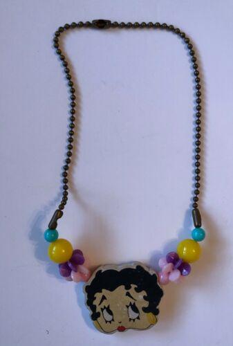 Betty Boop Charm Necklace Vintage Plastic Foam 1950s-1960s