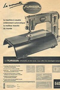 Turissa machine a coudre sewing machine publicite 1954 ebay for Machine a coudre omega