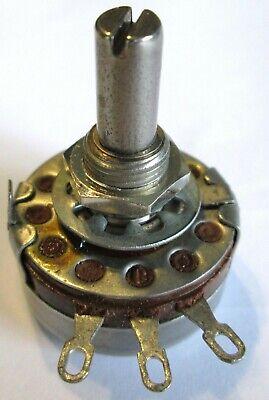 Clarostat 10k Ohm Linear Taper 2 Watt Potentiometer 38l Shaft Refurb.