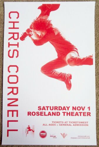 CHRIS CORNELL 2008 Gig POSTER Portland Oregon Concert Soundgarden