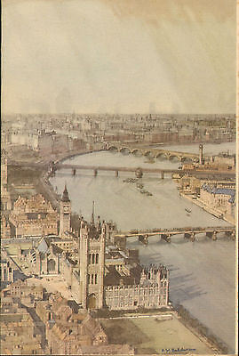 p & o - s.s. himalaya menu (  1951 ) westminster bridge