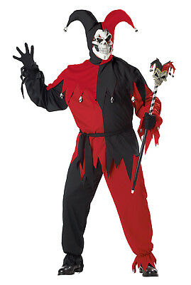 Clown Costume Plus Size (Evil Jester Clown Joker Plus Size)