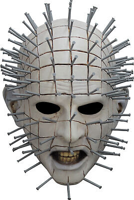 Pinhead Maske Hellraiser III Horror Film Erwachsene Voll Latex Halloween ()