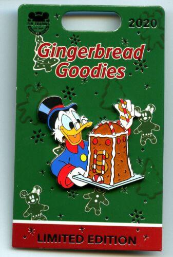 Disney Disneyland Gingerbread Goodies Scrooge McDuck Bank LE Pin & Card