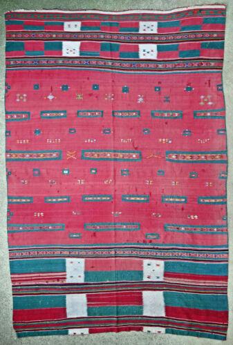 Textile weave antique oriental tribal Berber Moroccan Algerian M