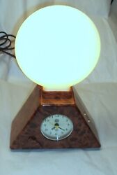 Vintage Electric Sunrise Clock by Bio-Brite Inc. Alarm Light Tested & working