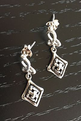 Sterling Silver .925 Celtic Knot Dangle Earrings - NEW