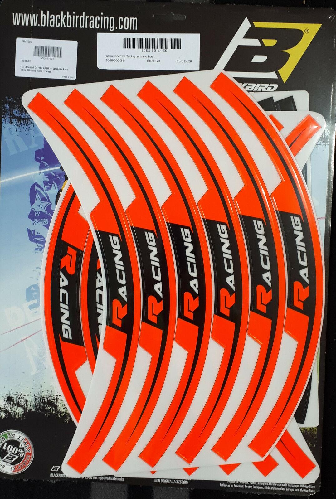 Adesivi moto per cerchi in Crystal Blackbird arancione