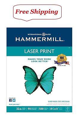 Hammermill - Laser Print Paper 32lb 98 Bright 8-12 X 11 - Ream