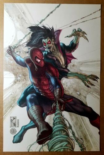 Amazing Spider-Man 622 Vampire Morbius Marvel Comics Poster by Simone Bianchi