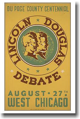 Lincoln- Douglas Debate Vintage - Poster