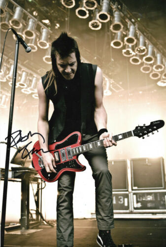 """Robin Finck """"Nine Inch Nails/Guns N` Roses"""" signed 8x12 inch photo autograph"""