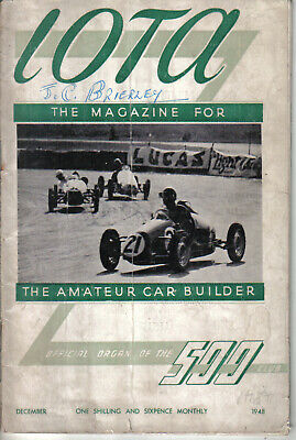 IOTA 500cc Racing Club Magazine December 1948 Official Organ of the 500 Club