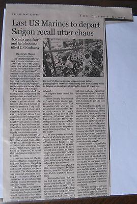 Obituary Boston Globe 5 1 2015 Juan Valdez  77  Last U S Marine To Depart Saigon