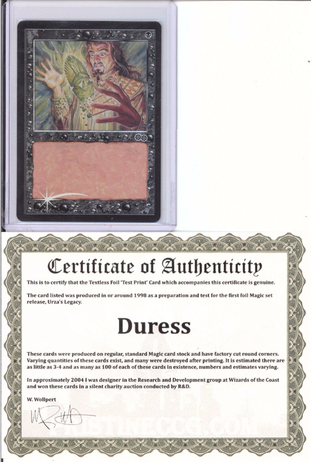 Duress textless foil test print mtg magic the gathering ebay test print mtg magic the gathering xflitez Image collections