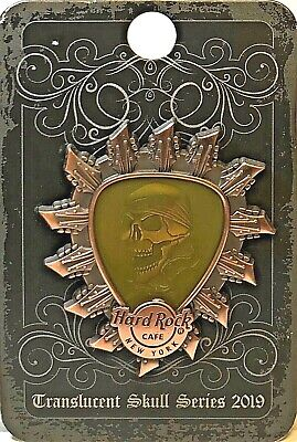 Hard Rock Cafe New York Pin Translucent Skull Series 2019 LE NEW #493220 HRC