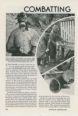 1941 Magazine Article Combating the Rat Menace Exterminating Exterminators