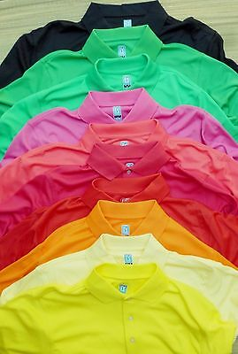 Pga Tour Mens Cool Neon Bright Color Polyester Pullover Polo Shirt List  45