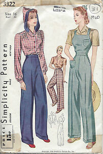 1940 Vintage Sewing Pattern B34