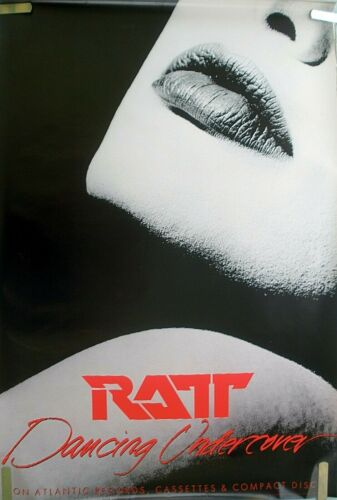 RARE RATT DANCING UNDERCOVER 1986 VINTAGE ORIG MUSIC RECORD STORE PROMO POSTER