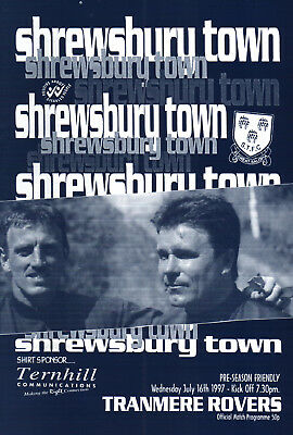 1997/98 Shrewsbury Town v Tranmere Rovers, friendly, PERFECT CONDITION