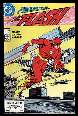 Flash (1987) #1 First Print Wally West As Flash Teen Titans App Baron Guice NM-