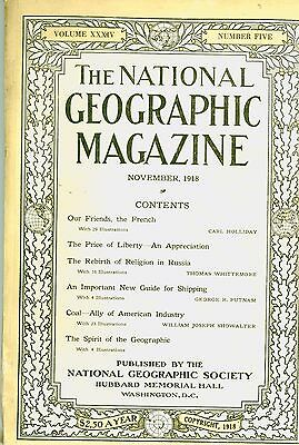 National Geographic Magazine   1918 November   France   Russia   American Coal
