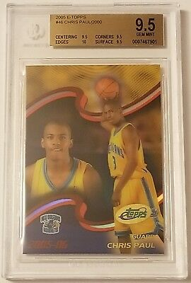 CHRIS PAUL Rockets 2005 eTopps rookie BGS 9.5 x3 10 edge !! GEM MINT !!