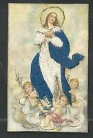 Postal Antigua Bordada De La Inmaculada Andachtsbild Santino Holy Card Santini -  - ebay.es