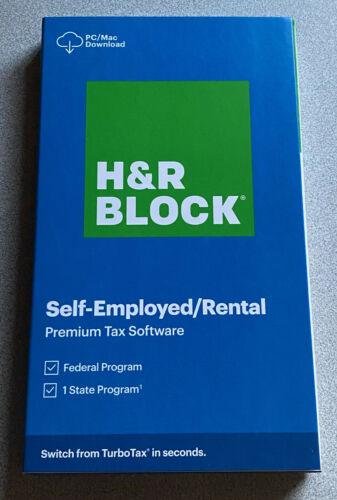 H&R Block Tax Software 2020 Premium New Retail Box 1536600-20 735290107060