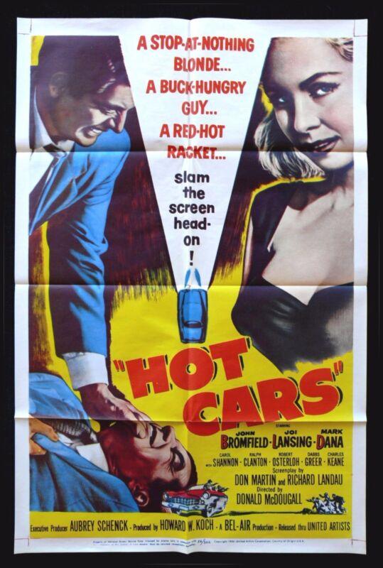 HOT CARS * CineMasterpieces MOVIE POSTER BAD GIRL GARAGE AUTO RACING 1956
