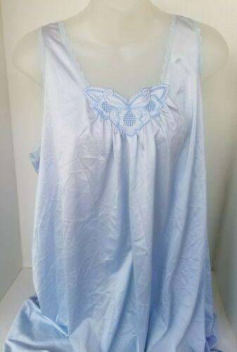 Vintage Hollywood VASSARETTE Nylon Lace Trim Embellished Nightgown LARGE