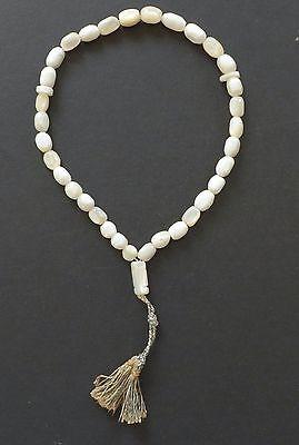 Vintage Islamic Mother of Pearl Rosary 33 Prayer Worry Beads Tesbih Misbaha