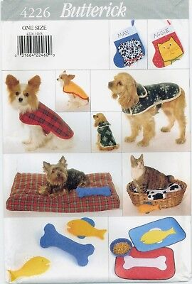 Butterick 4226 DOG CAT Pet Coats Stocking Bed Placemat Toy sewing pattern UNCUT